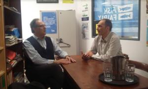 Στα γραφεία της Greenpeace ο Βασίλης Κοσμόπουλος