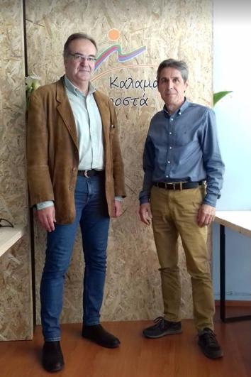 Με τον Βασίλη Κοσμόπουλο ο Τάσος Πολυχρονόπουλος