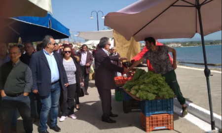 Στη Λαϊκή Αγορά Πεταλιδίου ο Τσώνης