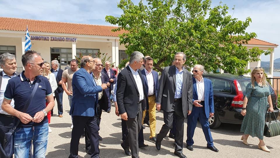 Στην Πύλο ψήφισε ο Αντώνης Σαμαράς