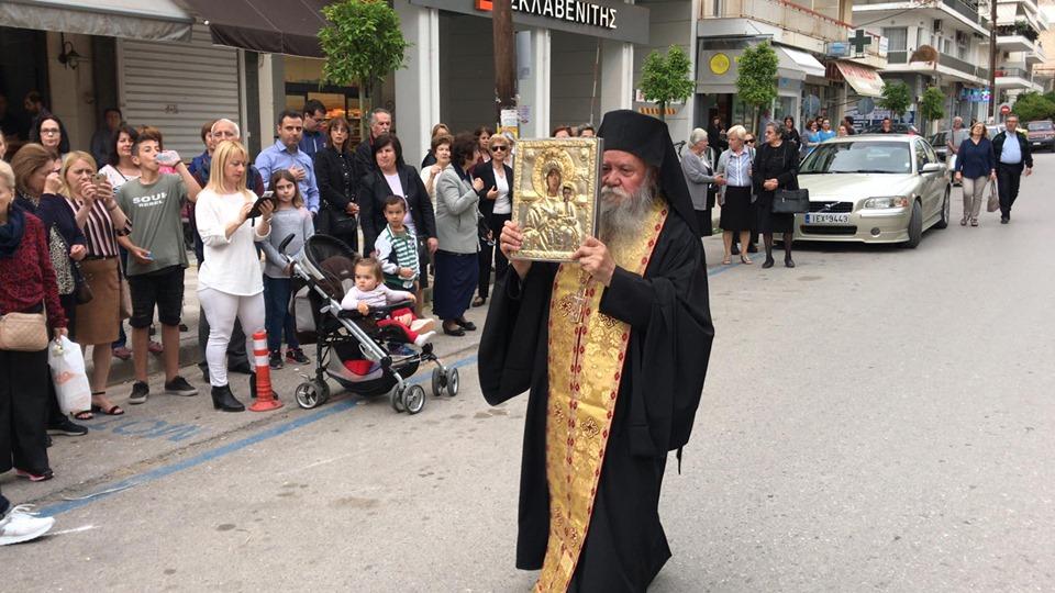 Πάνδημη υποδοχή της Παναγίας Βουλκανιώτισσας στην Καλαμάτα