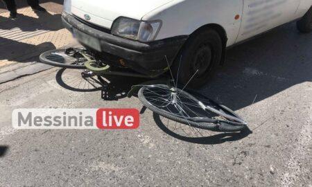 Tροχαίο στη Φαρών: Μοτοσυκλετιστής παρέσυρε ποδήλατο μαθήτριας