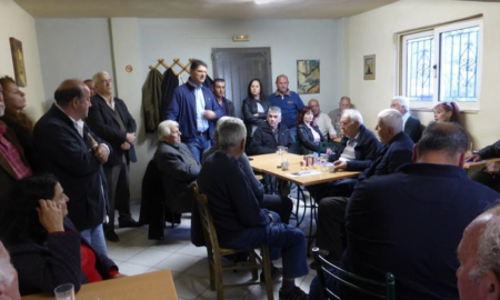 Συνεχίζει τις περιοδείες του ο Αθανασόπουλος στα χωριά του Δήμου Μεσσήνης
