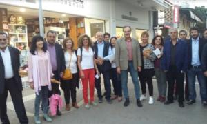 """Περιοδεία σε καταστήματα της Καλαμάτας από Κοσμόπουλο και """"Καλαμάτα Μπροστά"""""""