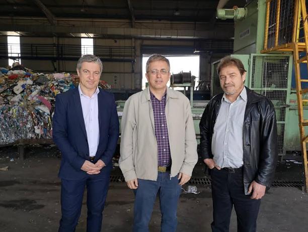 """Στο Κέντρο Ανακύκλωσης στο Ασπρόχωμα Μάκαρης και """"Ανοιχτός Δήμος"""""""