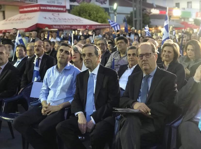"""Σαμαράς: """"Στηρίζουμε Νίκα γιατί είμαστε κατά του καιροσκοπισμού και της διαπλοκής"""""""