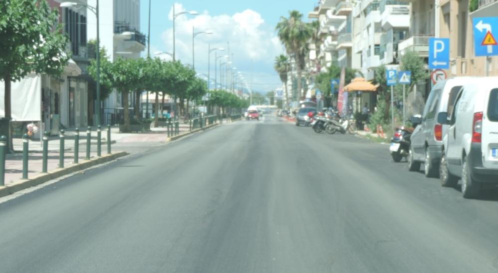 Συνεχίζονται οι ασφαλτοστρώσεις στην Παραλία Καλαμάτας