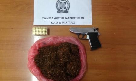 Σύλληψη 66χρονου στην Καλαμάτα με λαθραίο καπνό και πιστόλι στο κατάστημά του