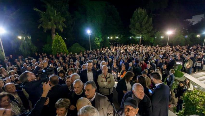Ιστορική ομιλία του Πέτρου Τατούλη στην Τρίπολη