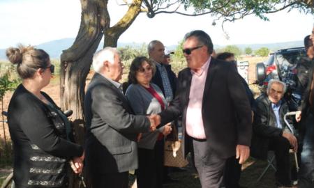 Συνεχίζει τις περιοδείες του στα χωριά της Μεσσήνης ο Γιώργος Τσώνης