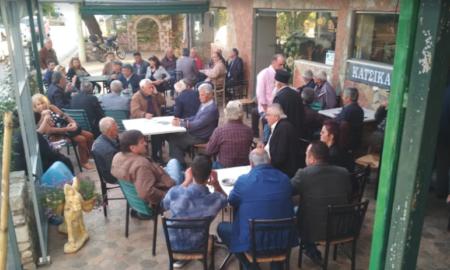 Συνεχίζει τις περιοδείες του ο Τσώνης στα χωριά του Δήμου Μεσσήνης