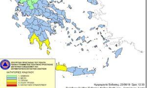 Υψηλός κίνδυνος εκδήλωσης πυρκαγιάς σήμερα στη Μεσσηνία