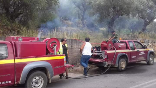 Πυρκαγιά στην Ανάληψη Μεσσήνης έκαψε 5 στρέμματα