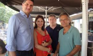 Ο υποψήφιος βουλευτής Νίκος Πατσαρίνος στη Μεσσήνη