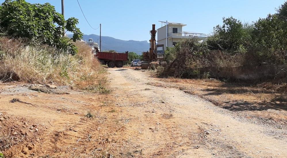 Διάνοιξη και ασφαλτόστρωση στην οδό Λήμνου νότια του Δημαρχείου Καλαμάτας