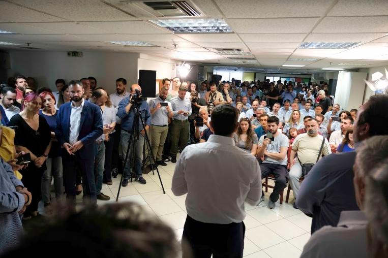 Επίσκεψη στη Δημοτική Αστυνομία Δήμου Αθηναίων έκαναν Τσίπρας και Χαρίτσης