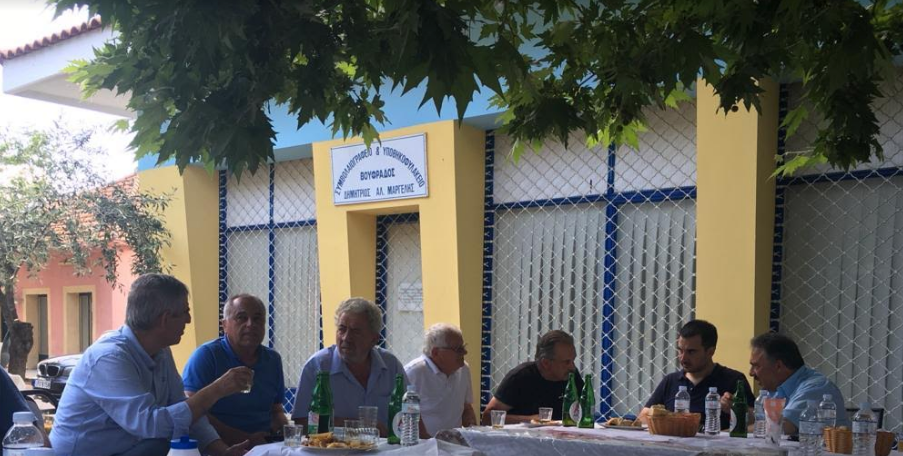 Στο Χατζή ο Χαρίτσης-Συνεχίζει τις περιοδείες του στη Μεσσηνία