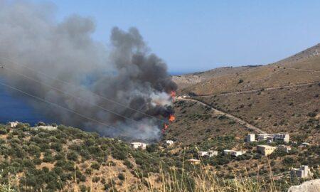 Φωτιά στη Μάνη: Σε ύφεση η πυρκαγιά στον Αγ.Κυπριανό