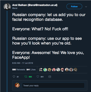 FaceApp: 150 εκατ. την «κατέβασαν» και κινδυνεύουν να δουν τον εαυτό τους σε διαφήμιση