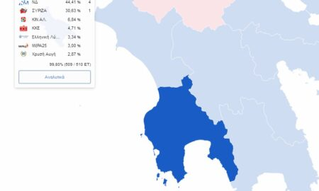 Μεσσηνία: 4 έδρες η ΝΔ – 1 ο ΣΥΡΙΖΑ