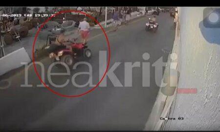 Σοκαριστικό βίντεο: «Γουρούνα» έπεσε πάνω σε 4 τουρίστες στην Κρήτη