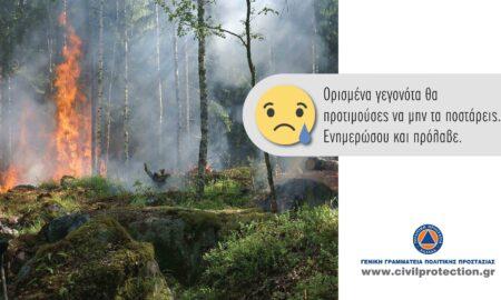 Υψηλός κίνδυνος πυρκαγιάς την Τρίτη και για τη Μεσσηνία
