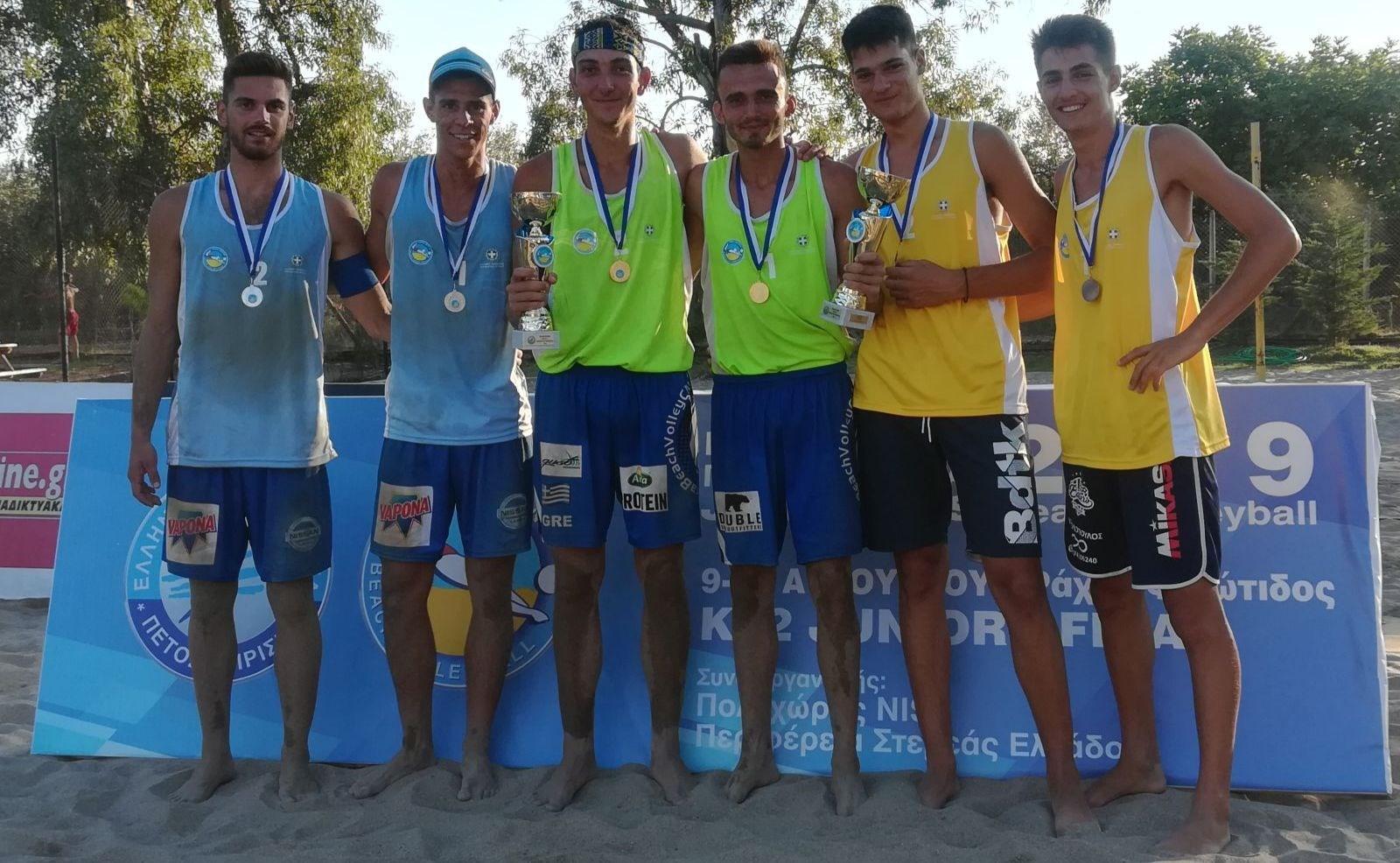 Μπιτς βόλει: Οι Χανδρινοί στο βάθρο του Κ22 Juniors Final στις Ράχες Φθιώτιδας