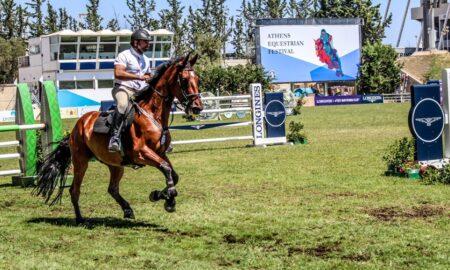 Ιππασία: Νίκος Δρούγας και E Brightwood Dorado έφεραν την Καλαμάτα στην κορυφή του Athens Equestrian Festival 2019!