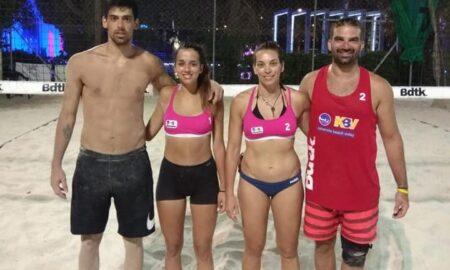 Beach Volley: Νίκος και Έλενα Παπουτσή πήραν την πρωτιά στο μικτό τουρνουά του KBV