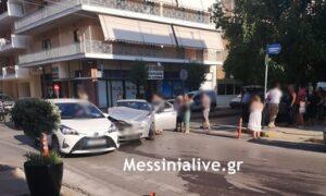 """""""Καραμπόλα"""" τριών οχημάτων στη διασταύρωση Μακεδονίας και Θεμιστοκλέους"""