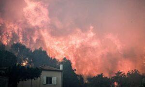 Ανεξέλεγκτη η πυρκαγιά στην Εύβοια – Ολονύχτια μάχη με τις φλόγες