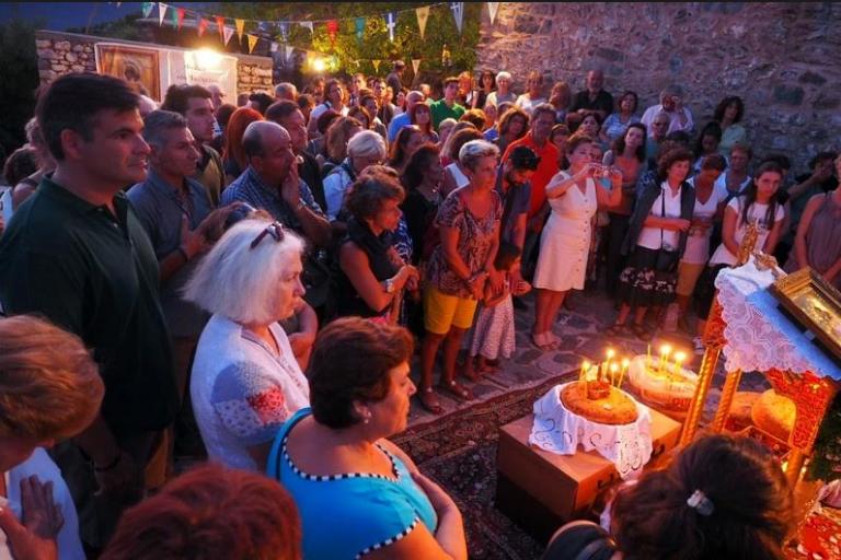 Ο Εσπερινός της Κοιμήσεως της Θεοτόκου στη Μονή Μαρδακίου