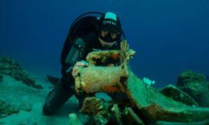 Αρχαιολογικοί θησαυροί στη Λέβιθα: Πέντε ναυάγια γεμάτα αμφορείς και άγκυρα από «πλοίο κολοσσιαίων διαστάσεων»
