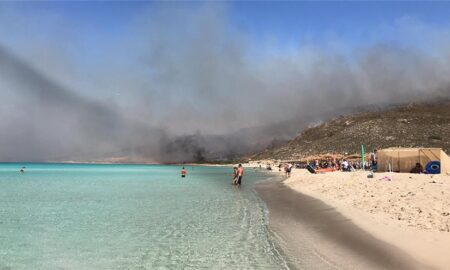 Ελαφόνησος: Κάηκε το 25% του νησιού από την φωτιά