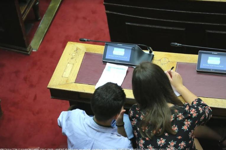 Μαθήτρια των Εκπαιδευτηρίων Μπουγά στη Βουλή των Εφήβων