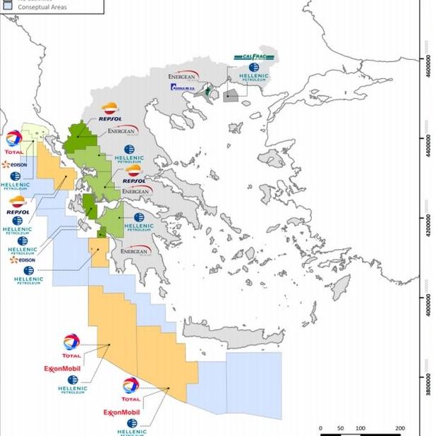 """Έρευνες για υδρογονάνθρακες: Σε Κυπαρισσιακό και νότια του Μεσσηνιακού μπαίνουν τα """"τρυπάνια"""" από το 2020"""