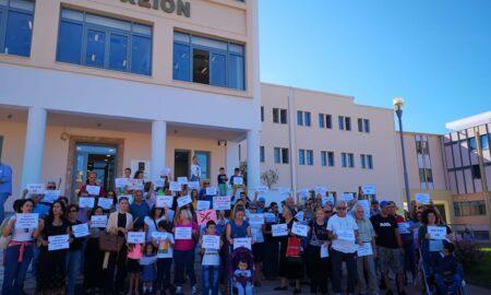 Διαμαρτυρία στο Δημαρχείο Καλαμάτας για το 5G