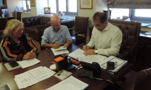 Yπογράφηκε η σύμβαση για την οριοθέτηση του Νέδοντα και ρέματος στη Θουρία