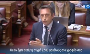 Παρέμβαση Μαντά στην αρμόδια επιτροπή της Βουλής για τον νέο Επενδυτικό Νόμο