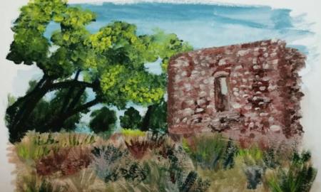 """Το """"Τελωνείο"""" της Μπούκας όπως το ζωγράφισε μαθήτρια της Α'Λυκείου Μεσσήνης"""
