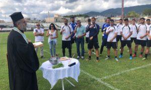 ΠΑΕ Καλαμάτα: Ο αγιασμός στο γήπεδο Μεσσηνιακού (βίντεο)