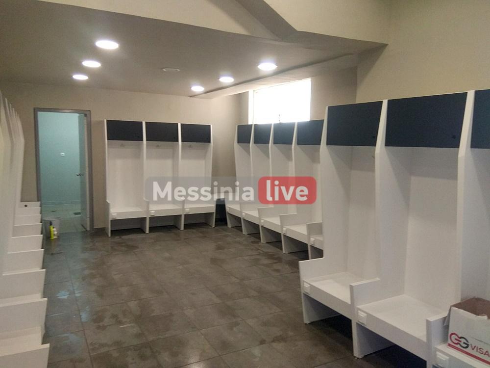 """ΠΑΕ Καλαμάτα: Ολικό μελανόλευκο """"λίφτινγκ"""" στο Στάδιο-Νέα αποδυτήρια, καθίσματα και χώροι VIP"""