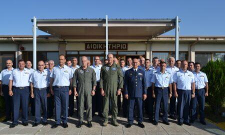 Την 120 ΠΕΑ επισκέφτηκε ο Αρχηγός της Πολεμικής Αεροπορίας