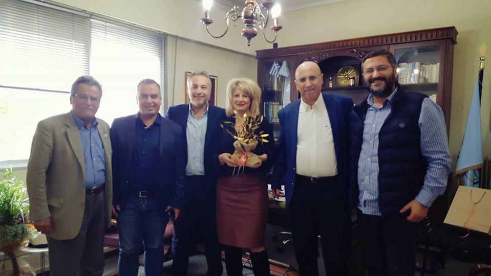 Οιχαλία: Εθιμοτυπική επίσκεψη στη Δήμαρχο από το Επιμελητήριο Μεσσηνίας