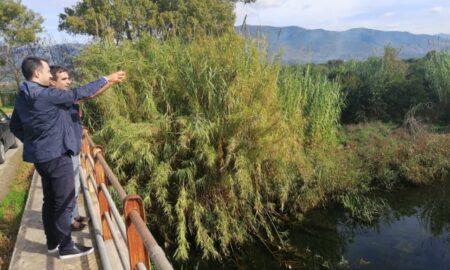 Χαρίτσης: Αυτοψία στον ποταμό Άρι για τη ρύπανση από τα ελαιοτριβεία-Δέσμευση για λύση στο πρόβλημα