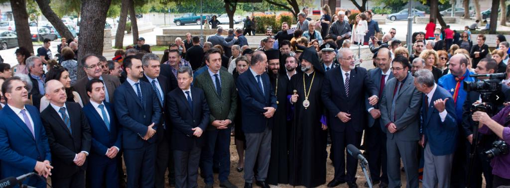 Έγιναν στην πλατεία Φραγκόλιμνας τα αποκαλυπτήρια του Μνημείου για τη Γενοκτονία των Αρμενίων