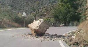Πέτρες και βράχια έπεσαν και πάλι στο δρόμο του Ταϋγέτου