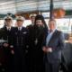 Επίσκεψη στο σκάφος του Γαλλικού Πολεμικού Ναυτικού εκπροσώπων της Καλαμάτας
