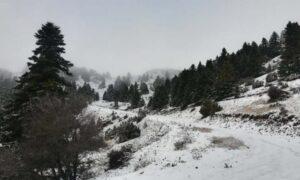 Έπεσε το πρώτο χιόνι στο Μαίναλο