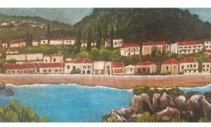 """Γεωργία Ραντέλοβα: Ζωγραφική σε φύλλα δένδρων """"…στο κύμα"""""""